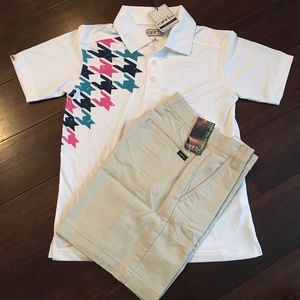 Matching polo and short set for boy